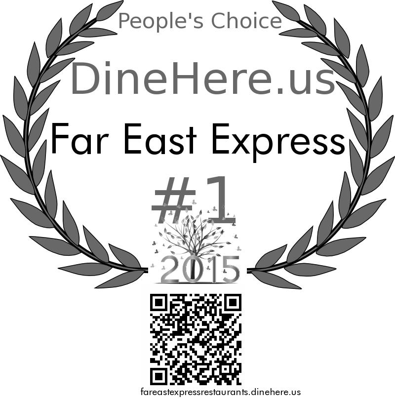 Far East Express DineHere.us 2015 Award Winner